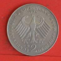 GERMANY FEDERAL REPUBLIC  2  MARK  1990 D   KM# 175  -    (835) - [ 7] 1949-…: BRD