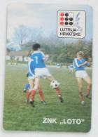 CROATIAN LOTTERY ( Croatia Small Calendar 1982.) * Football Soccer Fussball Futbol Futebol Calcio Foot Voetbal  Lotterie - Calendars