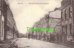 CPA HERVE RUE DE LA STATION ET LA GARE - Herve