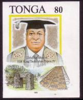 Tonga 1993 Imperf Plate Proof - Kings Birthday - Egypt Pyramid - 9 Exist - Tonga (1970-...)