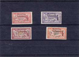 """Alaouites, 1925 Avion 1/4  Mint Hinged, Including Short """" L"""" In The 3 Piastres- Scarce"""