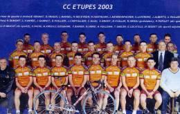 CYCLISME....EQUIPE CYCLISTE C.C.ETUPES ..SAISON 2003...VOIR SCANNER - Cyclisme