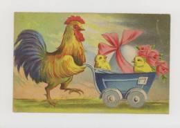 Pâques : Coq, Voiture D'enfant, Poussins, Oeuf *f0268 - Pâques