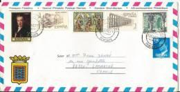Belle Lettre Avec Bel Affranchissement Vers La France  - Année 1979 - N°2 - 1931-Aujourd'hui: II. République - ....Juan Carlos I