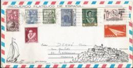 Belle Lettre Avec Bel Affranchissement Vers La France  - Année 1979 ?? - N°3 - 1931-Aujourd'hui: II. République - ....Juan Carlos I