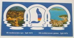 MEDITERRANEAN GAMES 1979. ( Croatia ) Mascot Monk Seal  Jeux Mediterraneens Giochi Del Mediterraneo Juegos Mediterráneos - Postcards