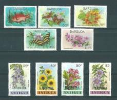Barbuda:  407/ 415 **  Fleurs - Papillons - Poisson - Antigua Et Barbuda (1981-...)