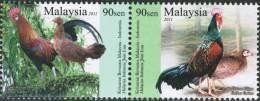 2011 Jungle Fowl Chicken Bird Malaysia Indonesia Stamp MNH - Malaysia (1964-...)
