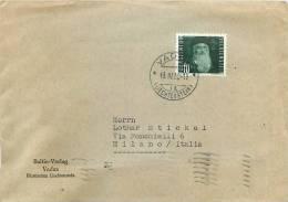 2451 - LIECHTENSTEIN, STORIA POSTALE - LEONARDO DA VINCI SU BUSTA PER MILANO, 13/04/1950 - Liechtenstein