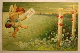 Carte En Relief, Angelot (1)  Chromo Bonne Année - New Year