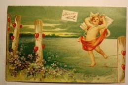 Carte En Relief, Angelot (3)  Chromo Bonne Année - New Year