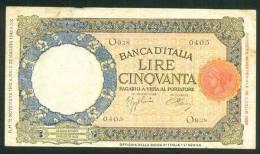 ITALIA , 50 LIRE  21.11 1942. - 50 Lire