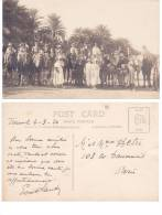 Tunisie Tunis ? -  Chameaux Dromadaires, Groupe En Excursion 1926 - Tunisie