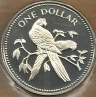 BELIZE $1 DOLLAR BIRD BIRDS FRONT EMBLEM BACK 1974 AG SILVER PROOF KM? READ DESCRIPTION CAREFULLY !!! - Belize