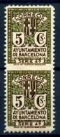 BARCELONA    Nº  12spv    ( Charnela- Hinged )-44 - Barcelona