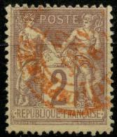 France (1877) N 85 (o) Cachet Rouge - 1876-1878 Sage (Type I)