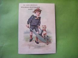 Chromo -au Bon Marche-pignon Raymond Niort-brouette-chien-enfant- - Non Classés