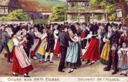 Gruß Aus Dem Elsass, - Prägedruck - Impression En Relief - Alsace