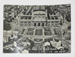 MILANO - La Stazione Centrale Vista Dall' Alto - 1953 - Milano