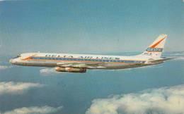 B70883 Aviation Delta DC8  Delta Airlines 2 Scans - 1946-....: Moderne