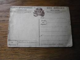 MILITARIA CORRESPONDANCE DES ARMES RECTO VERSO - Poststempel (Briefe)