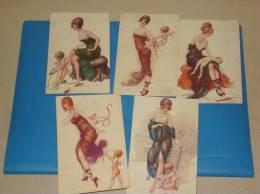 Lot De 5 CPA Illustrateur A Penot Femmes Seins Nus - Nus Adultes (< 1960)