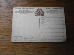 MILITARIA CORRESPONDANCE DES ARMES RECTO VERSO - Cartes De Franchise Militaire