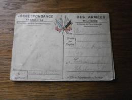 MILITARIA CORRESPONDANCE DES ARMES RECTO VERSO - Marcofilia (sobres)