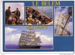 LE BELEM -   Voilier   Trois Mâts   -  4 Vues : Détails - Voiliers