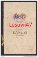 """Saint-Etienne (42-Loire) """" Catalogue Des Chocolats De La Maison E. Weiss """", 1913. - Advertising"""