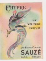 CARTE PARFUMEE SAUZE CHYPRE Calendrier 1952 - Cartoline Profumate