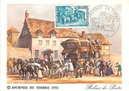09 . FOIX . JOURNEE DU TIMBRE 1973 . - Foix