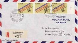 ONU  Geneve - 1981   ~  N° 96 X 3 Ex Oblitérés ... Via Aerea - Office De Genève