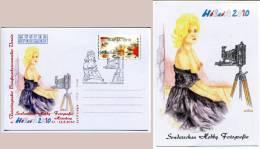 Sonderstempel Sonderschau Hobbyfotografie Mädchen Vor Kamera Musterkarte Specimen (#15) - Fotografie