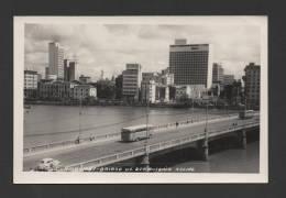 BRASIL BRAZIL 1950s RECIFE CAPIBARIBE BAIRRO DE ST. ANTÓNIO Bridge Bus Buses Xx - Recife