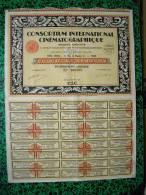 Action - Europe - France - CIC  Consortium International Cinematographique  - Paris 1928 - Action De 100 Frs - Cinéma & Théatre