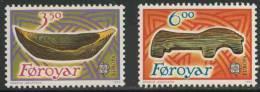 Faroer Faroe Islands 1989 Mi 184 /5 Sc 191 /2 ** Wooden Toy Boat + Wooden Horse, Children´s Toys - Europa Cept - Archeologie