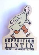 MAGNET EN BOIS - L'EXPEDITION TINTIN - TINTIN - PGHBF 1994 - Objets Publicitaires