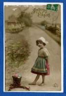 80 Joyeuses Pâques Fillettes Et Son Panier Oeufs - Pasqua