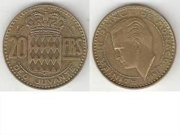 *monaco 20 Francs 1951 Km 131   Xf+  !!!catalog Val 2016 = 6,00$ - 1949-1956 Francos Antiguos