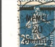 MEMEL Scott # 20 (1) O 1920