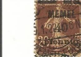 MEMEL Scott # 22 (1) O 1920