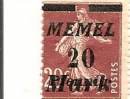 MEMEL Scott # 94-96,99  (5) * 1922