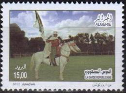 Algerie 2012 MNH 1 V Armee Algerienne La Garde Horses Horse Chevaux Cheval Cavalier Caballos Cavalli Paarden - Militaria