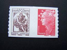FRANCE NEUF** ANNEE 2010 N° P507 PAIRE DE CARNET CABASSON + MARIANNE DE BEAUJARD 150 ANS DU TIMBRE FISCAL MOBILE - Adhésifs (autocollants)