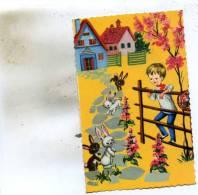 Carte Glacée Petit Garçon Avec Les Lapins - Enfants
