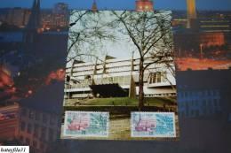 Frankreich 1982 Maximumkarten - Dienstmarke Für Den Europarat - Mi.30 - 31 / ( T- 56 ) - Europa-CEPT