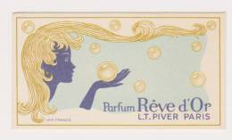 CARTE PARFUMEE L.T. PIVER  REVE D'OR - Cartes Parfumées