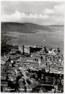 BRACCIANO, VEDUTA AEREA, B/N, VG 1963    **//** - Italia