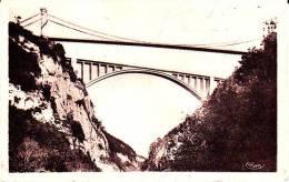 CPA LE PONT DE LA CAILLE Ancien Et Nouveau Envirins De SEYSSEL 01 74 CRUSEILLES 74 - Puentes